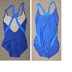 Mint Speedo Swimsuit 1 Piece Size 6 Blue